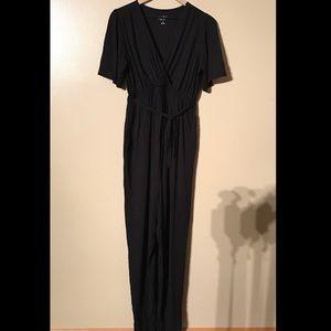 Isabel Maternity Black Jumpsuit, Size M